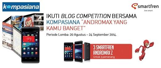 Kompetisi Menulis Smartfren dan Kompasiana