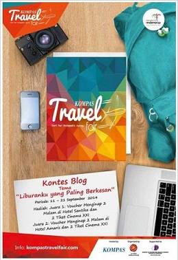 Lomba Menulis Kompas Travel Fair 2014