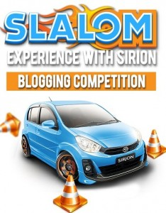 Daihatsu Sirion slalom blogging competition