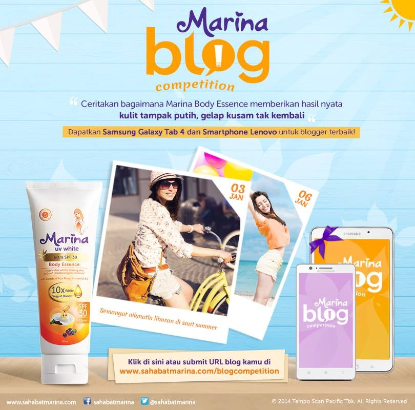 Marina Body Essence Blog Competition