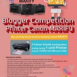 Canon Blogger Competition Printer Canon MAXIFY