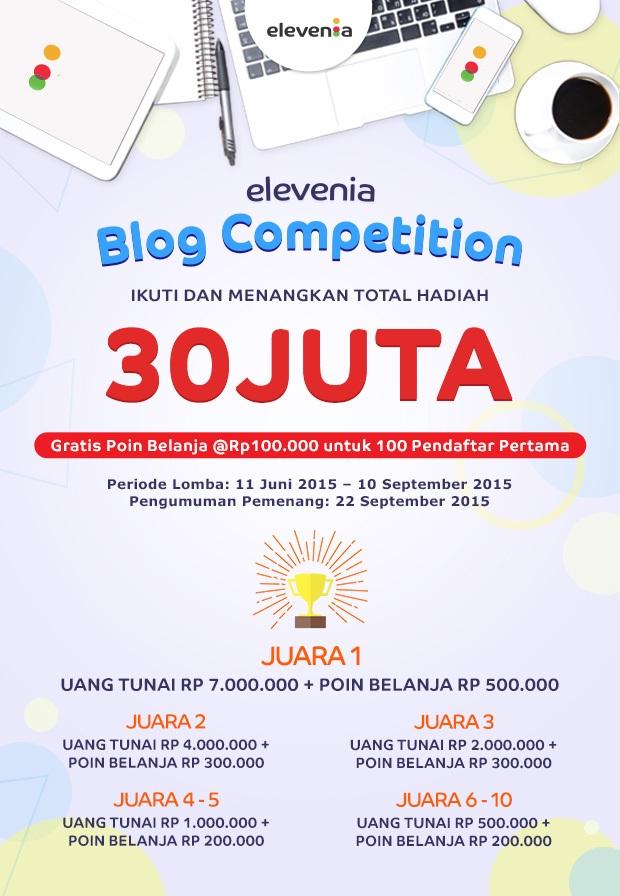 Elevania Blog Competition Hadiah Total 30 Juta Rupiah
