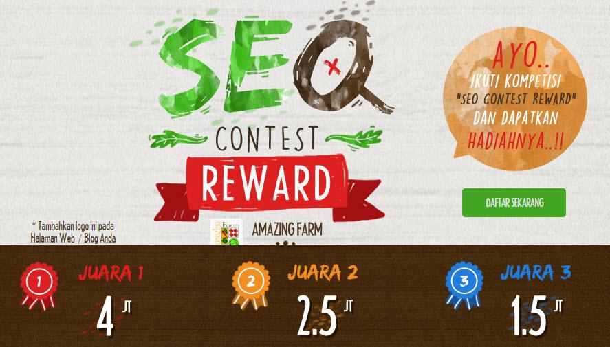 Kontes SEO Reward Amazing Farm 2015