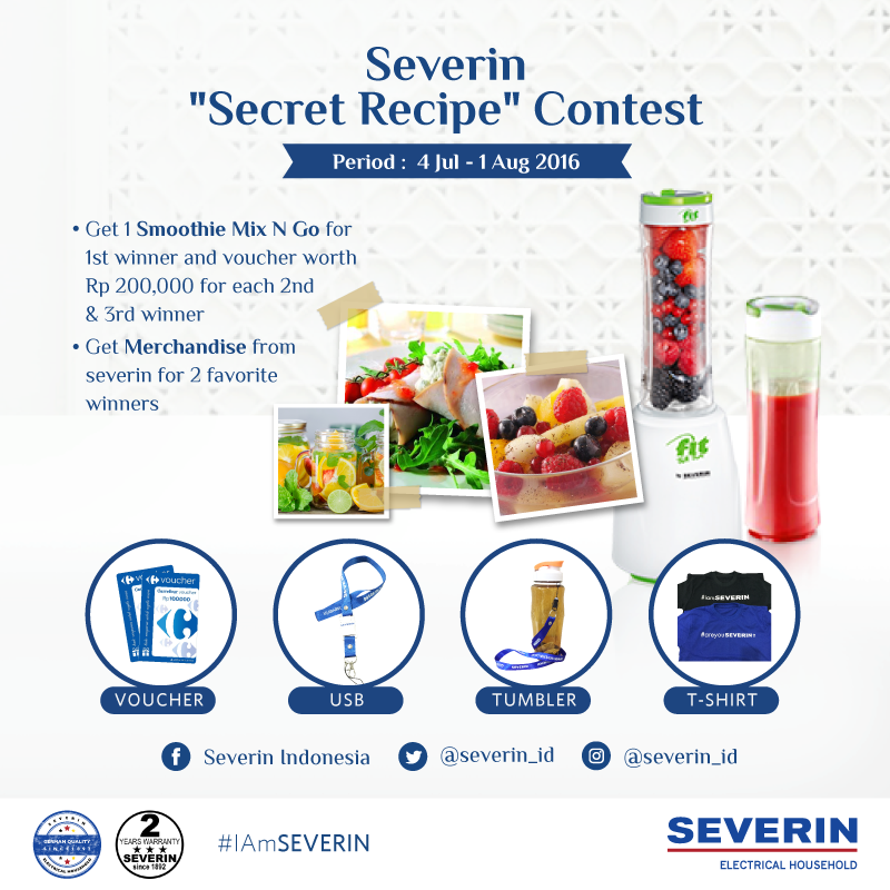 Hadiah Kontes Foto Severin Secret Recipe
