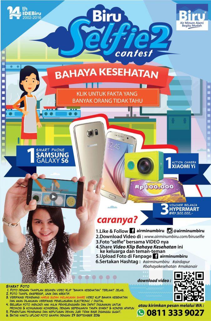 Kontes Foto Biru Selfie Hadiah Gadget dan Voucher Belanja