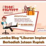 Blog Contest Liburan Impian Bersama Tixton.com